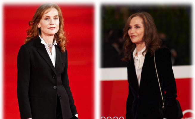 Isabelle Huppert, look chic vincente non si cambia: si ricicla!